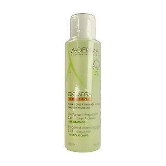 A-Derma Exomega Control Cleansing Gel 2 in 1 Hair and Body 500 ml of gel