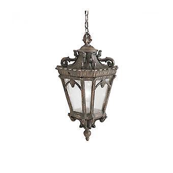 Lámpara Colgante Tournai, Aluminio Fundido Y Vidrio, Mediano