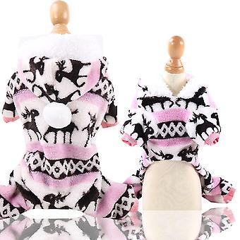 Dog Clothes Pajamas Fleece Jumpsuit Winter Dog Costume Apparel