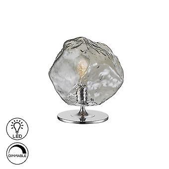 Table Lamp , Chrome, Smoke, 1x E27