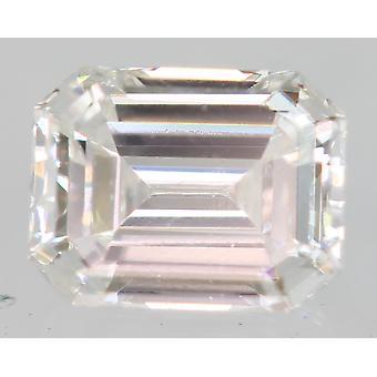 Gecertificeerd 0.23 Karaat E VVS2 Emerald Enhanced Natural Diamond 4.05x3.14mm 2EX