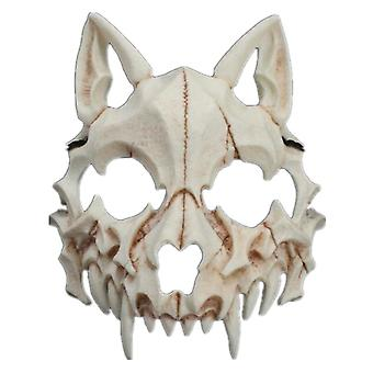 Half Face Wolf Mask Bone Animation Masque Masque Props Cosplay