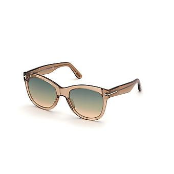 Tom Ford Wallace TF870 45P Shiny Light Brown/Green Gradient Sunglasses