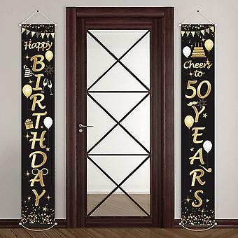 2 Pieces 50th Birthday Party Decorations Cheers to 50 Years Banner 50th Party Decorations Welcome