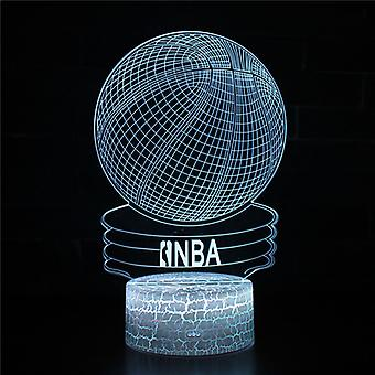 3D Optisk illusionslampa LED Nattljus, 7 färger Touch Sänglampa Sovrum Bord Art Deco Barn Nattljus med USB-kabel Nyhet Julklapp-Basket #378