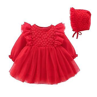 Длинный рукав кружева Детское платье, партия, и свадебные платья