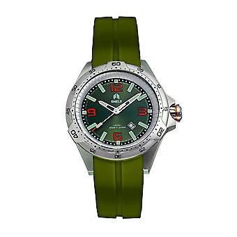 Shield Vessel Strap Watch w/Date - Green