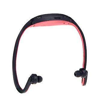 Sport MP3 WMA Music Player TF / Micro SD -korttipaikka Kuulokkeet Kuuloke kuuloke musta + punainen