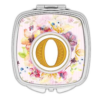 Gift Compact Mirror: Monogram Letter O Name