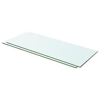 vidaXL hylder 2 stk. glas Gennemsigtig 60 x 20 cm