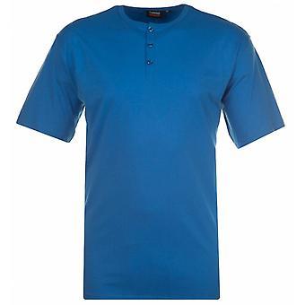 ESPIONAGE Espionage Mens Big Size Plain Grandad Cotton T Shirt