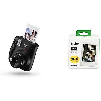 FengChun Mini 11 Kamera, Kohle grau Mini Instant Film, 1x 40 Blatt (40 Blatt), Wei