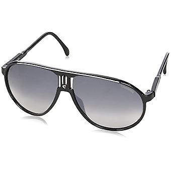 Carrera Champion IC BSC Sunglasses, Black Silver/Grey Mirror Shaded Silver, 62 Unisex-Adult