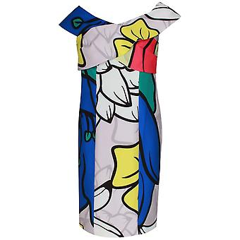 Arggido Pop Art Floral Sleeveless Dress