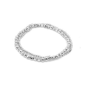 Boho betty sabal minor silver nugget stretchy bracelet set