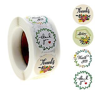 500 stickers stickers - Bedankmotief - Bloemen
