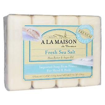 A La Maison Hand & Body Bar Soap, Fresh Sea Salt 4/3.5 Oz