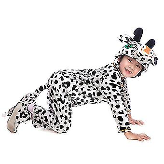 Cow Long Cosplay Suit Costume Stage Clothes Holiday Clothes(3XL (160cm))