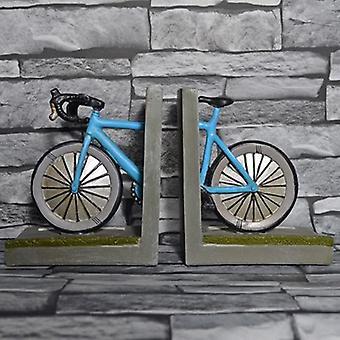 Bookends de par arrumado da prateleira de bicicleta