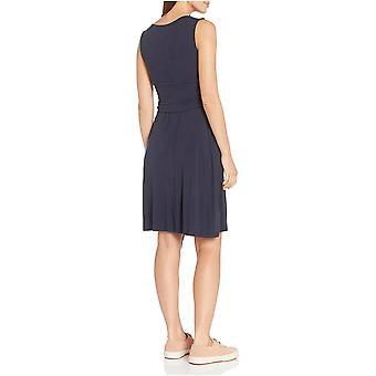 Essentials Damen ärmelloses Crossover-Kleid