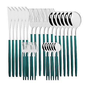30pcs Dinnerware Sets, Western Spoon Fork Knife Flatware Set