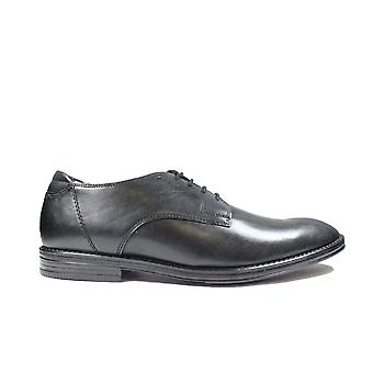 Clarks Citi Stride Walk Black Leather Mens Lace Up Smart Shoes