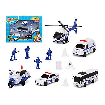 Police Vehicles and Accessories Set White 119381 (13 Pcs)