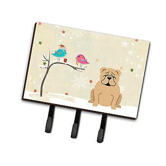 Los tesoros de Caroline regalos de Navidad entre amigos English Bulldog Fawn Leash o Key Holder Bb2596Th68, Triple, Multicolor