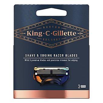 Rasierklinge Nachfüllung King C Gillette Shave & Edging (3 uds)
