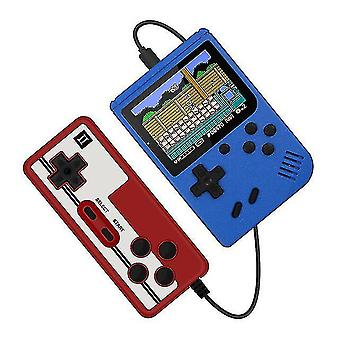 400 in 1 Retro tragbare Handheld-Farb-LCD-Spiel-Player 2-Spieler-Videospielkonsole (blau)