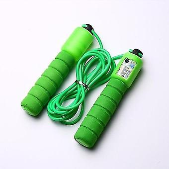 Salta corde con contatore fitness jump skip (verde)