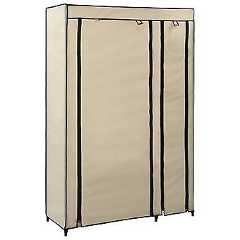 vidaXL armoire pliante crème 110x45x175 cm de tissu