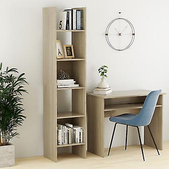 vidaXL Bibliothèques Sonoma-Chêne 40x35x180 cm Panneau de particules