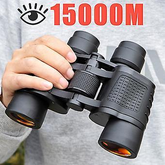 Binocolo 80x80 a lungo raggio 15000m hd telescopio ottici in vetro lenti visione notturna in condizioni di scarsa illuminazione per la caccia alla portata sportiva