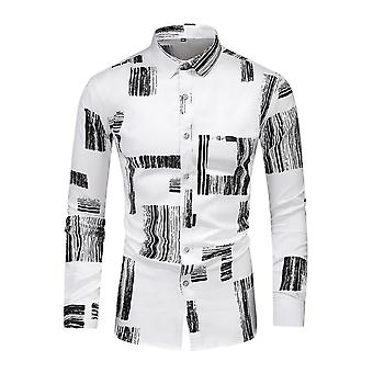 Mile Mens Floral Shirt Casual Button Down Long Sleeve Flower Printed Shirt