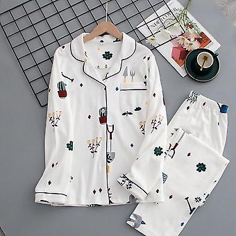 Japanese Autumn And Winter New Ladies Cotton With Long Sleeves Pants S