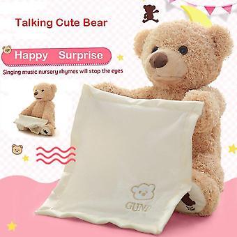 Peek A Boo Teddy Bear Play Soft Toy Plush Blanket