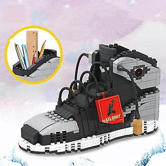 Söt sport basket skor byggstenar Sneakers Modell Penna Container Bricks Penna