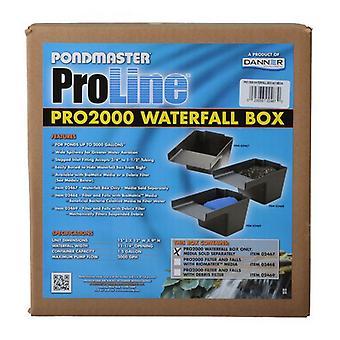 "Pondmaster Pro Series Pond Biological Filter & Waterfall - Pro 2000 - (15""L x 12""W x 11.25""H)"