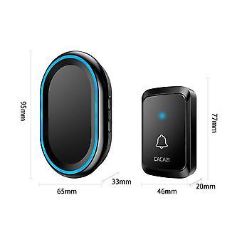 Inicio Smart Wireless Doorbell Impermeable AC Doorbell 300M 20 80dB Plug LED (negro)
