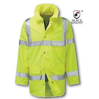 Black Knight X-Large Geraint 3/4 jakke med høy synlighet - gul