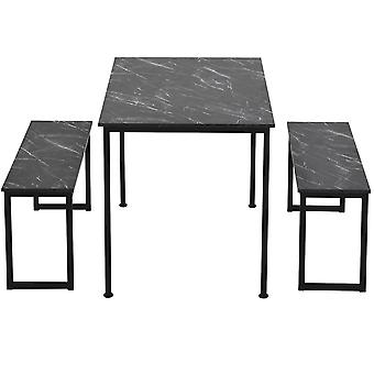 3-piece Dining Table And Bench Set