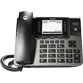 טלפונים לוויניים ml1100 dect 6.0 מערכת טלפון עסקית 4-line הניתנת להרחבה עם פקידת קבלה דיגיטלית לתא קולי ופקיד קבלה דיגיטלי