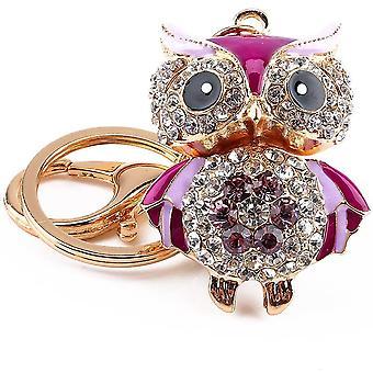 Schlüsselanhänger Kristall Eule Schlüsselanhänger Damen Mode Handtasche Geldbörse Anhänger Schlüsselanhänger