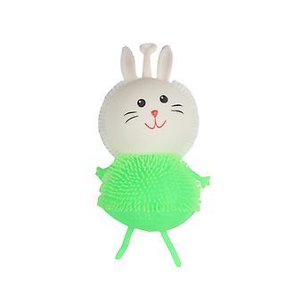 Glowing Rabbit Cartoon Squishy Fidget Toy Stress Reliever