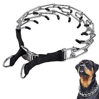 犬のプロングトレーニングカラー、調節可能なステンレス鋼リンクとComfo