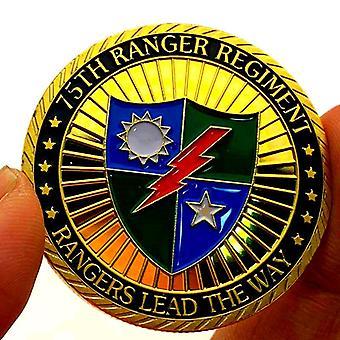 American Challenge 75 Ranger Regiment Vergoldete Gedenkmünze Sammlung Münze Goldmünze Münze Medaille