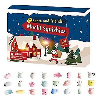 24pcs חג המולד הרפתקאות לוח שנה 2021, יצירתי 24 ימים חג המולד הרפתקאות לוח שנה בצעי סט חיות חמודות Fidget תיבות מתנה של בצעירים חושיים לילדי חג המולד