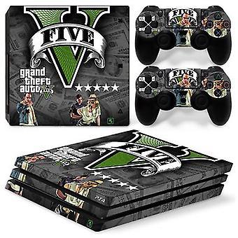 Ps4 Pro konzol és vezérlők bőr matrica - Grand Theft Auto V