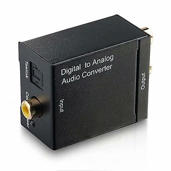 Digital Optical Coax To Analog Rca Audio Converter Adapter